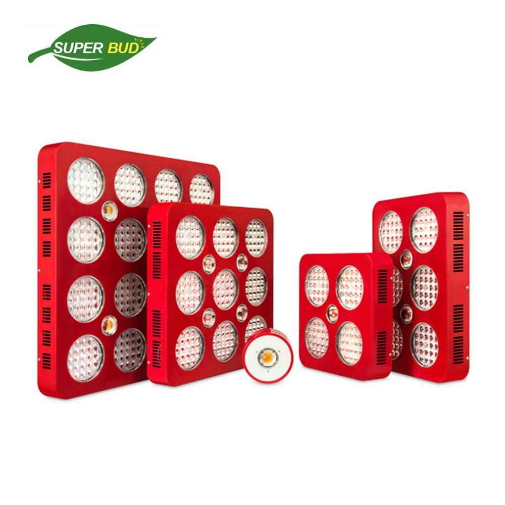 Superbud Pro volle geführte spektrum wachsen licht 100 W 400 W 600 W 100 0 W 1600 W CREE CXA2530 COB & Bridgelux 5 W veg & blüte indoor anlage lampe
