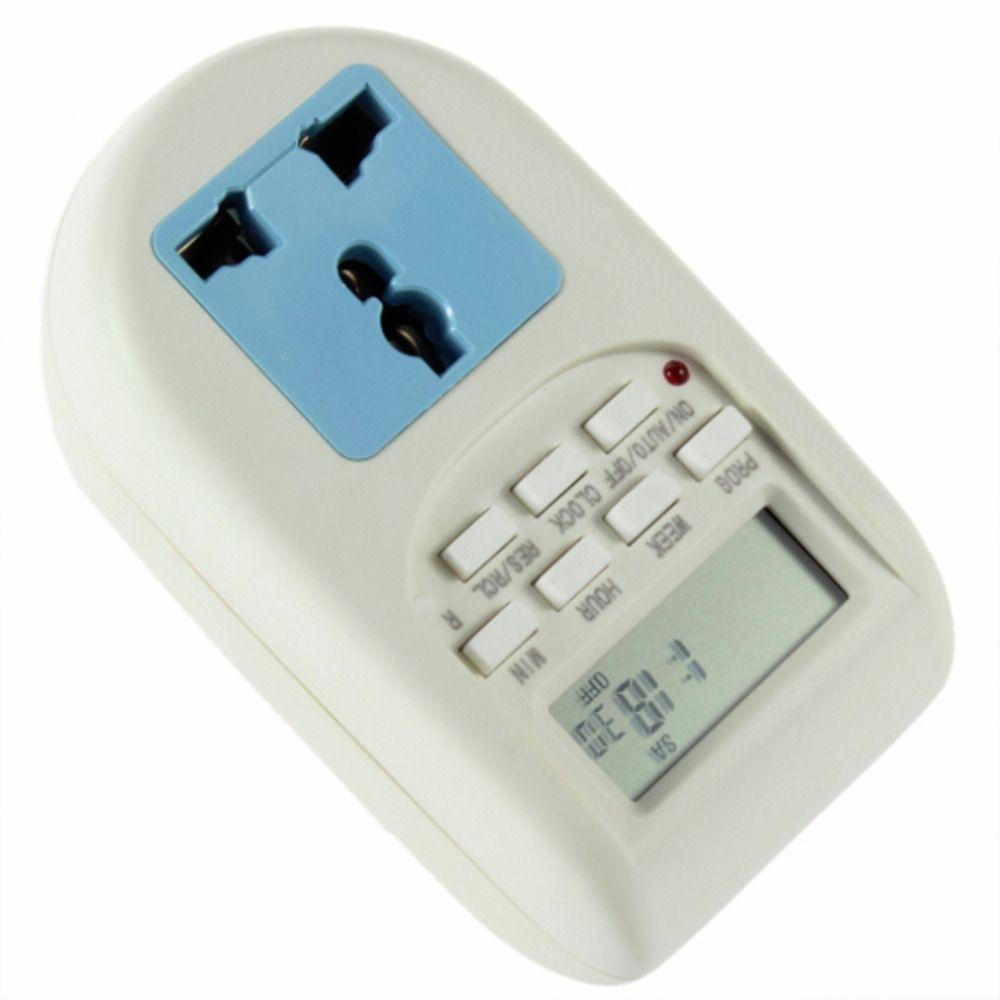 1 stücke Hohe Qualität Programmierbare Elektronische Timer Steckdose Digital Timer Eu-stecker Neue heiße verkauf