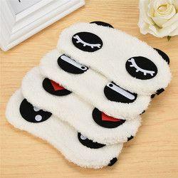 Nueva lindo Cara blanco Panda Eye Mask eyeshade sueño sombreado gafas algodón ojos máscara cubierta del ojo salud Cuidado