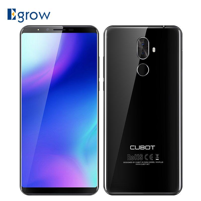 Cubot X18 Plus <font><b>5.99</b></font>'' Android 8.0 MT6750T Octa core 4GB RAM 64GB ROM Smartphone Dual Camera 4000mAh 4G Fingerprint Mobile Phone