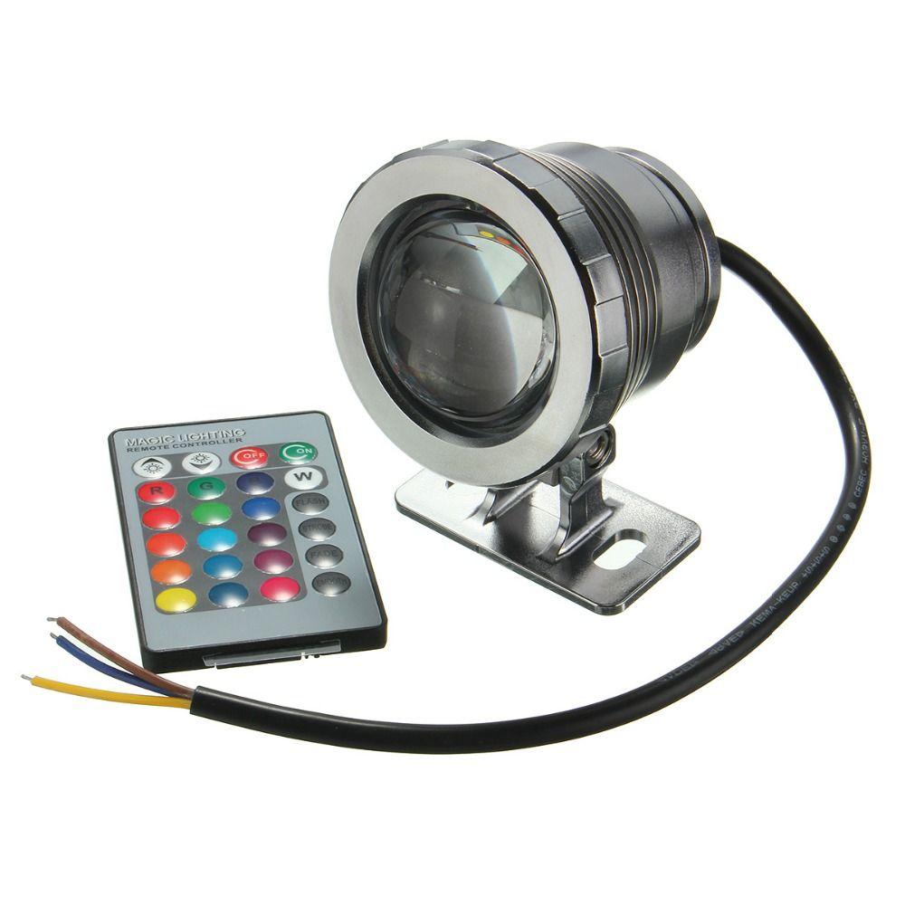Mising 5 W Impermeable IP68 Piscina de la Fuente de Luz RGB LED Proyector Estanque Lámpara Subacuática Con Mando a distancia AC85-265V/DC12V