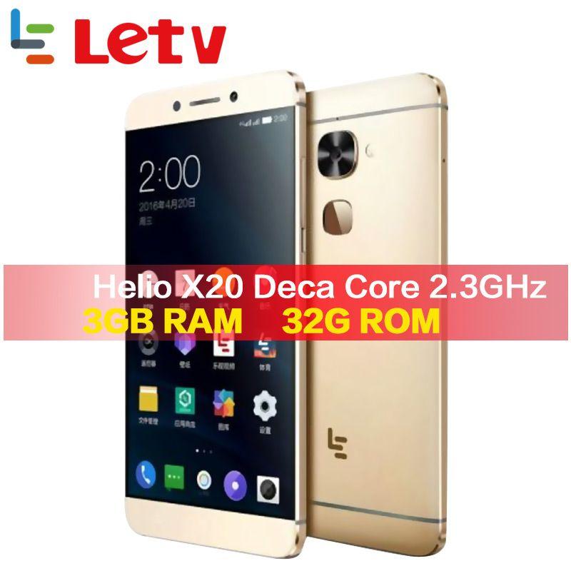 D'origine Letv Le2 X620 32G ROM Android6.0 téléphone Helio X20 Deca Core 2.3 GHz 5.5 ''16MP Caméra D'empreintes Digitales smartphone téléphone portable