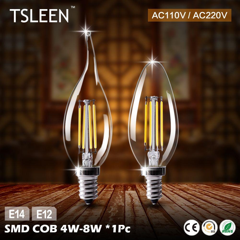 Дешевые e12 светодиодная лампа E14 220 В светодиодные лампы 110 В пламя лампы энергосбережения Лампы для мотоциклов свет дома лампада LED decorativas 4 В...