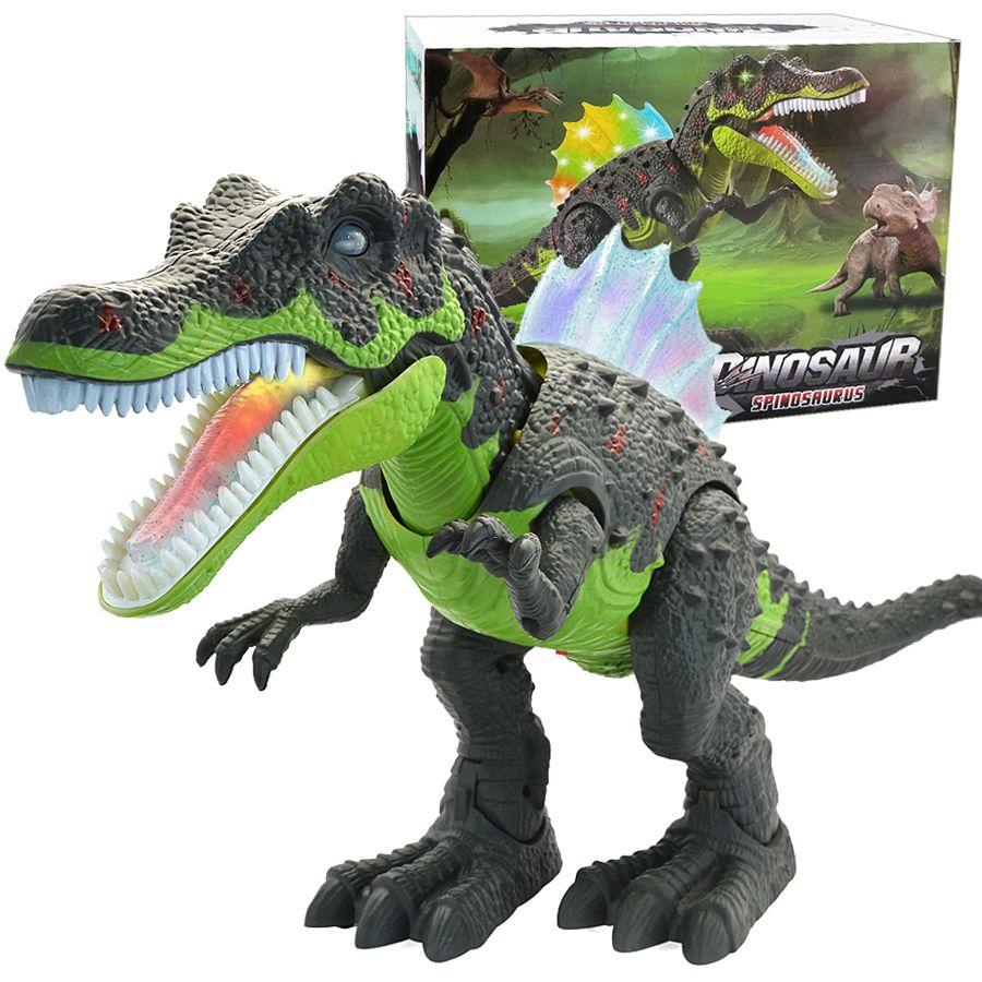 Dinosaure de grande taille Animaux Électronique Marche Robot Jouets Rugissant Balancer Clignotant Éclairage Électrique Jouets Figurines Cadeau pour