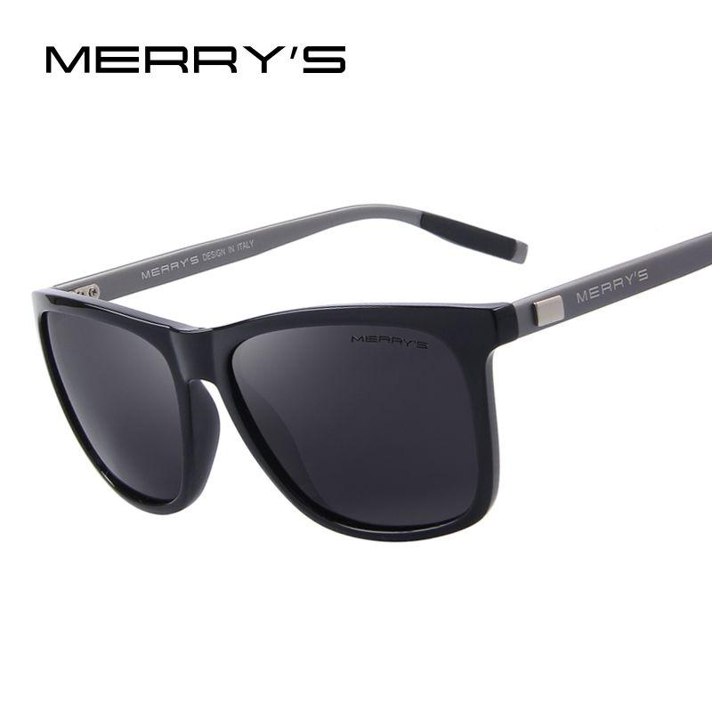 MERRY'S Unisex Retro Aluminum Sunglasses Polarized <font><b>Lens</b></font> Vintage Sun Glasses For Men/Women S'8286
