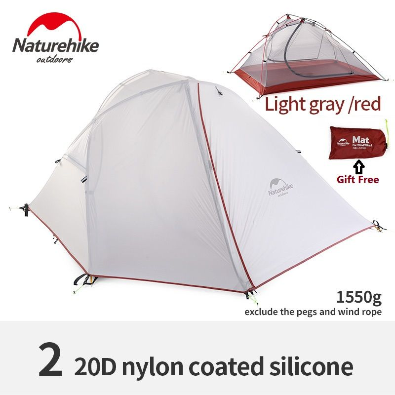 Naturehike factory sell wind wing 3season aluminum rod 1& 2 persons outdoor Tent Camping Hiking Tent rainproof light weight tent
