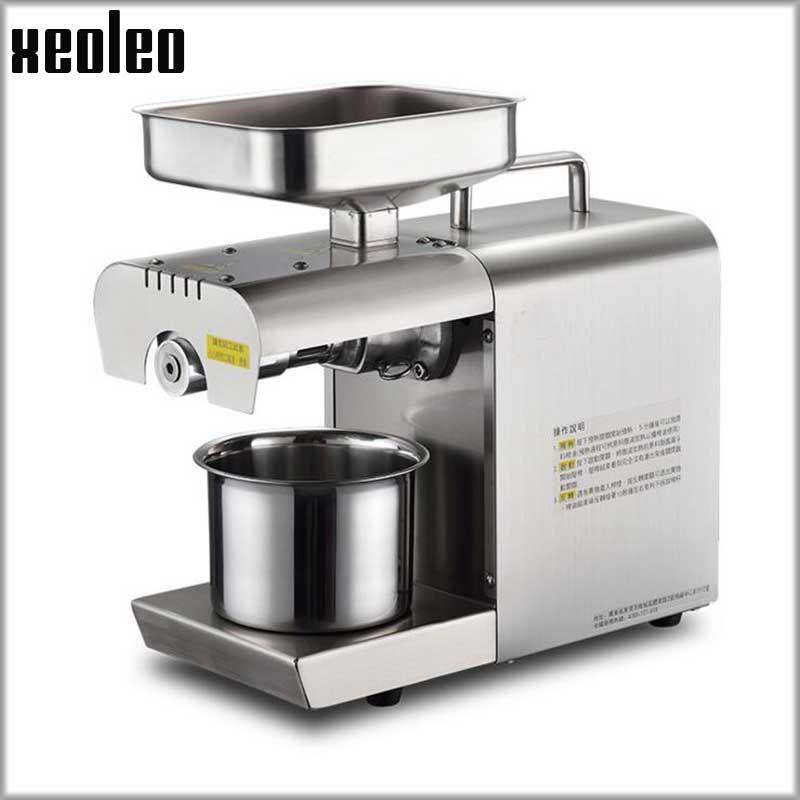 Xeoleo Olivenöl presse maschine edelstahl Erdnussöl presser Cold & Hot Öl maschine/Sesam/Melone samen /raps/Flachs/Nussbaum
