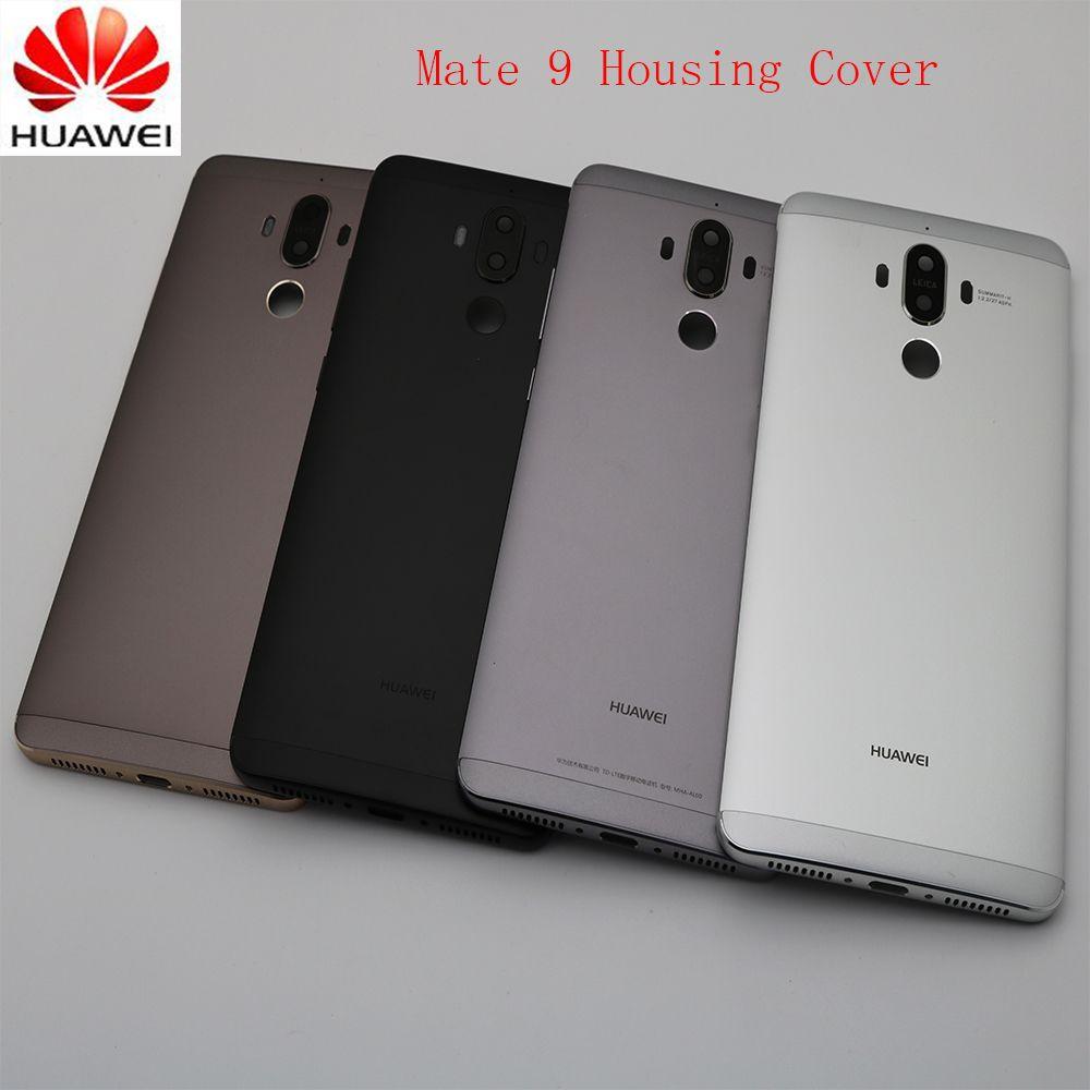 Original Metallbatteriefach Rückseitige Cover Gehäuse Fall Für Huawei Taube 9 Mit Kameraobjektiv + Power Lautstärketasten