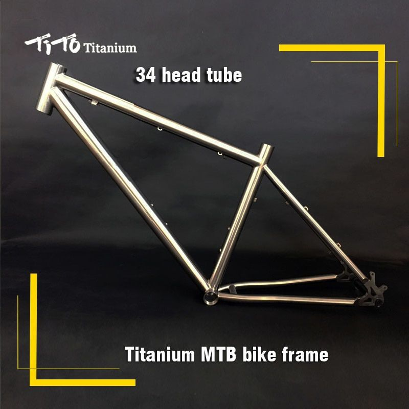 FREE SHIPPING !!! TiTo titanium mountain bike MTB frame 650B 26`` 27.5`` 34 head tube bicycle
