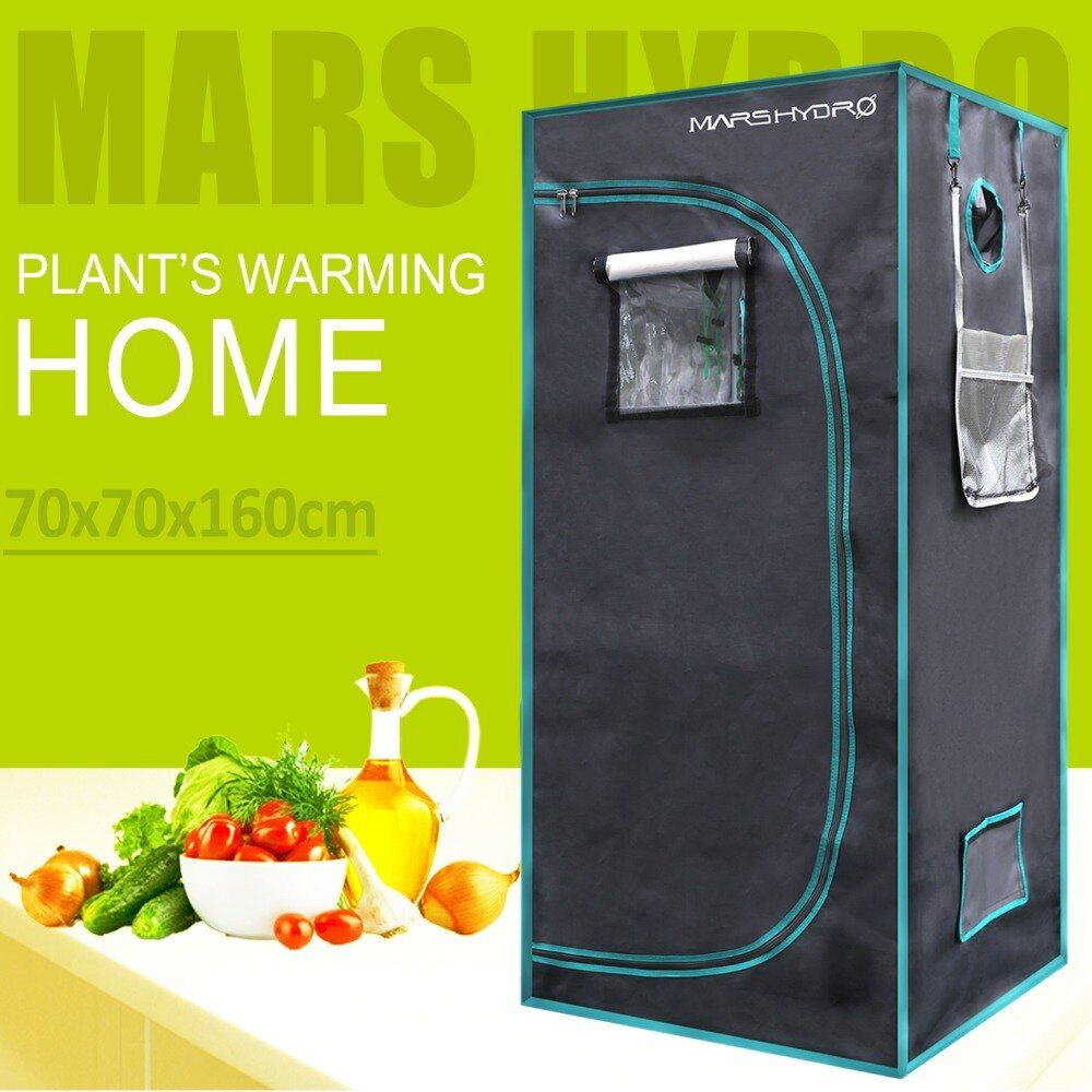 1680D LED Hydroponic Grow Tent 2' 3'' x2' 3'' x5' 3''(70x70x160cm) , Hydroponic system grow room greenhouse plants non-toxic hut