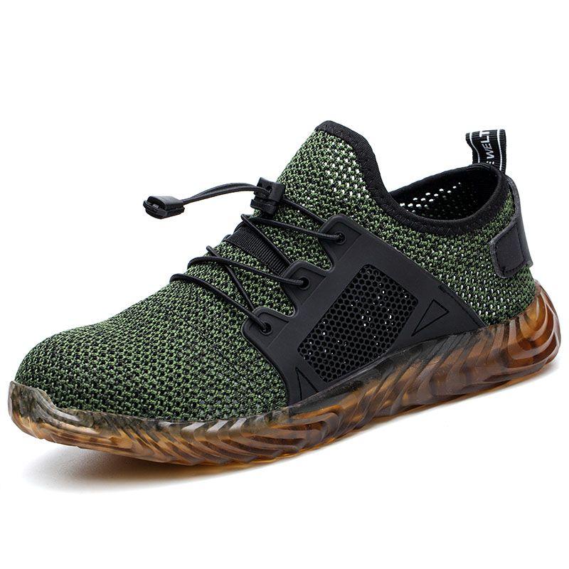 Livraison directe Indestructible Ryder chaussures hommes et femmes en acier orteil Air sécurité bottes anti-crevaison travail Sneakers chaussures respirantes
