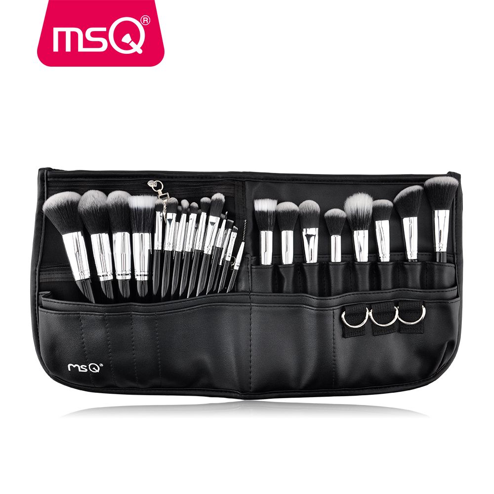 MSQ 29pcs Makeup Brush Set Pro Cosmetic Brushes Set With High Quality PU leather Case Fashion Makeup For Beauty