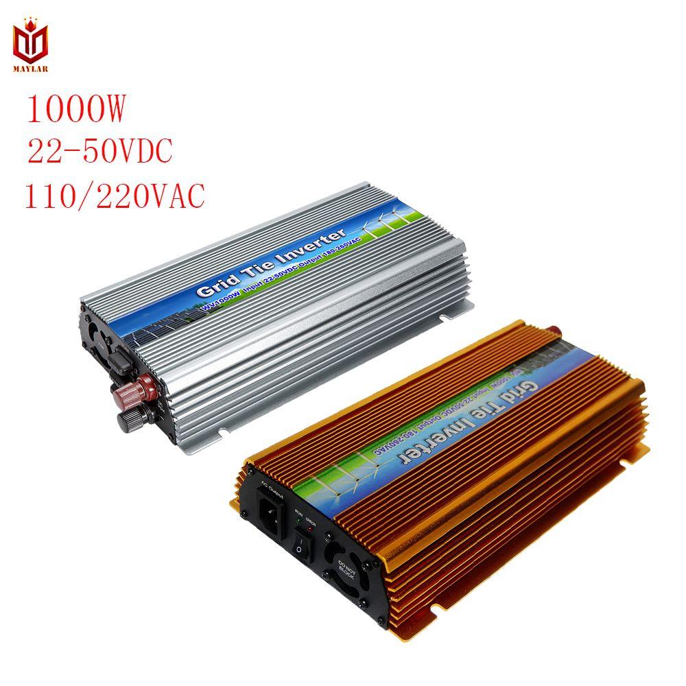 22-50V/10.5-30VDC 1000W Solar Grid Tie Inverter Voltage Transformer with MPPT Function For Home PV System Output 120-220VAC