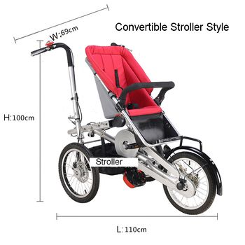 Whole set sell Folding Bike Pushchair+ 1 Shopping Basket 16
