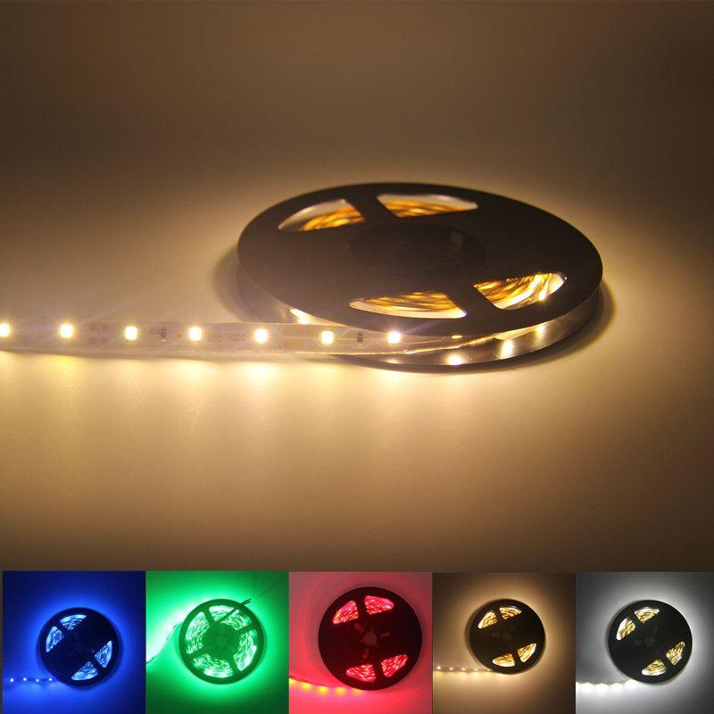 5m 10m 2835SMD 5050SMD LED Strip lights warm lighting red green blue Super bright Flexible light belt