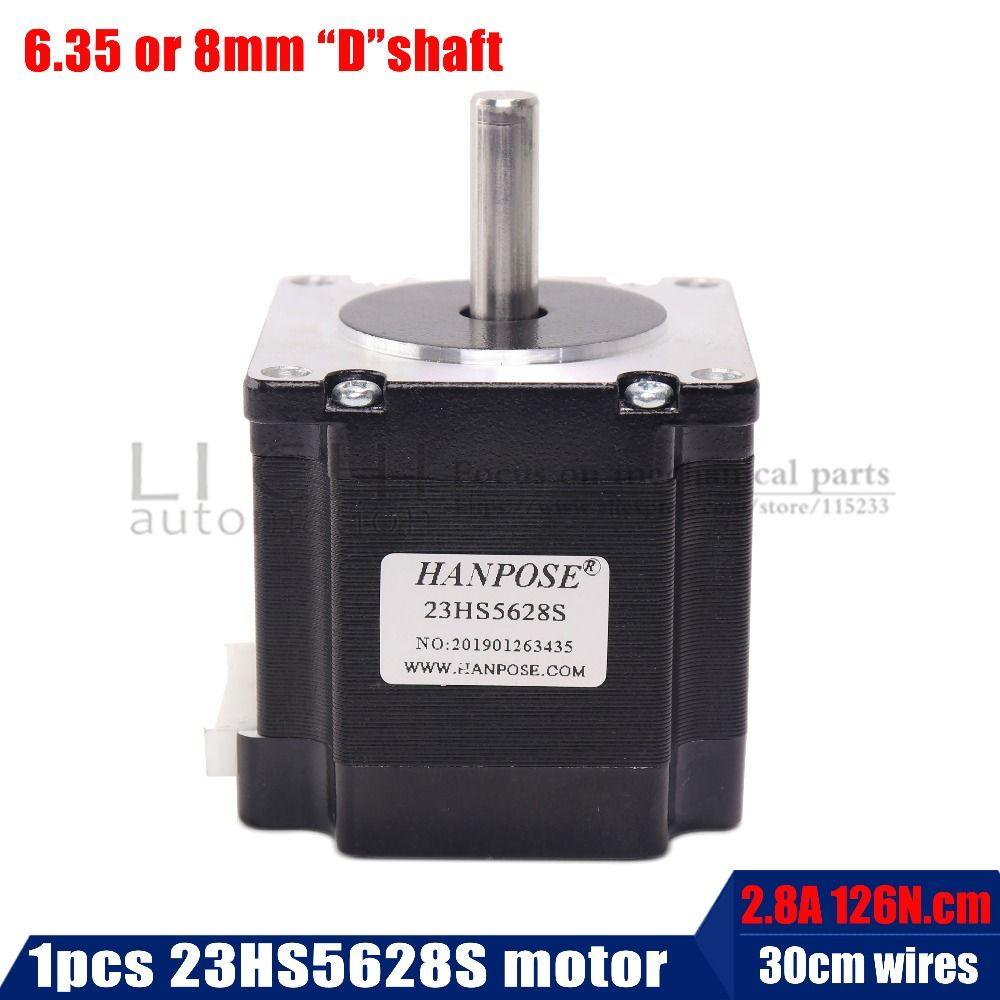 23HS5628 Nema 23 moteur pas à pas 57 moteur 4 fils 165 Oz-en 56mm 2.8A 6.35mm/8mm diame CNC découpe Laser mousse Plasma