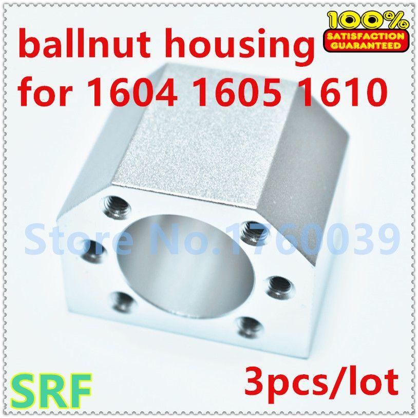 Livraison gratuite 3 pcs/lot alliage d'aluminium 1605 écrou à billes support de boîtier support pour SFU1604 SFU1605 SFU1610 vis à billes