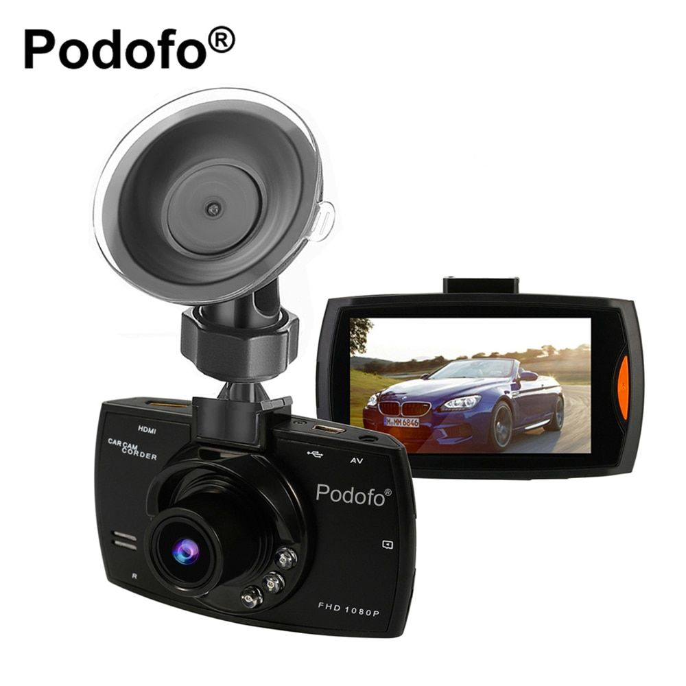 Original Podofo A2 Car DVR Camera G30 Full HD 1080P 140 <font><b>Degree</b></font> Dashcam Video Registrars for Cars Night Vision G-Sensor Dash Cam