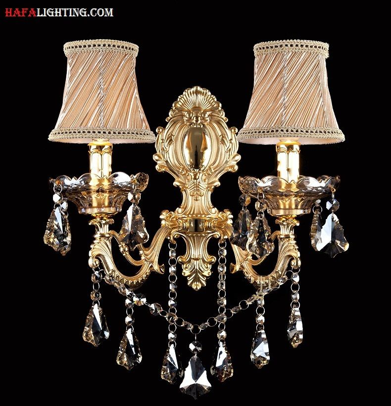 Fashion crystal wall lamp Sconce Light candle wall lamp stair lamp bedroom bedside lamp mirror light