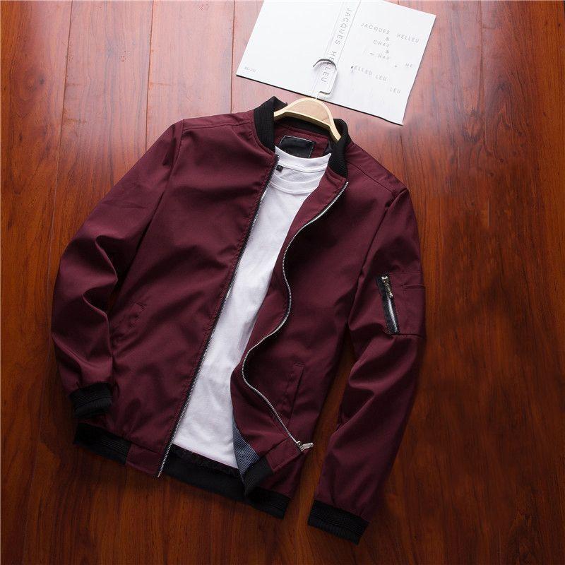 NaranjaSabor Spring New Men's Bomber Zipper Jacket Male Casual Streetwear Hip Hop Slim Fit Pilot Coat Men Clothing Plus Size 6XL