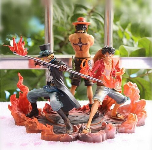NEW hot 3pcs/set 14-17cm One piece Monkey D Luffy ace Sabo collectors action figure toys Christmas toy