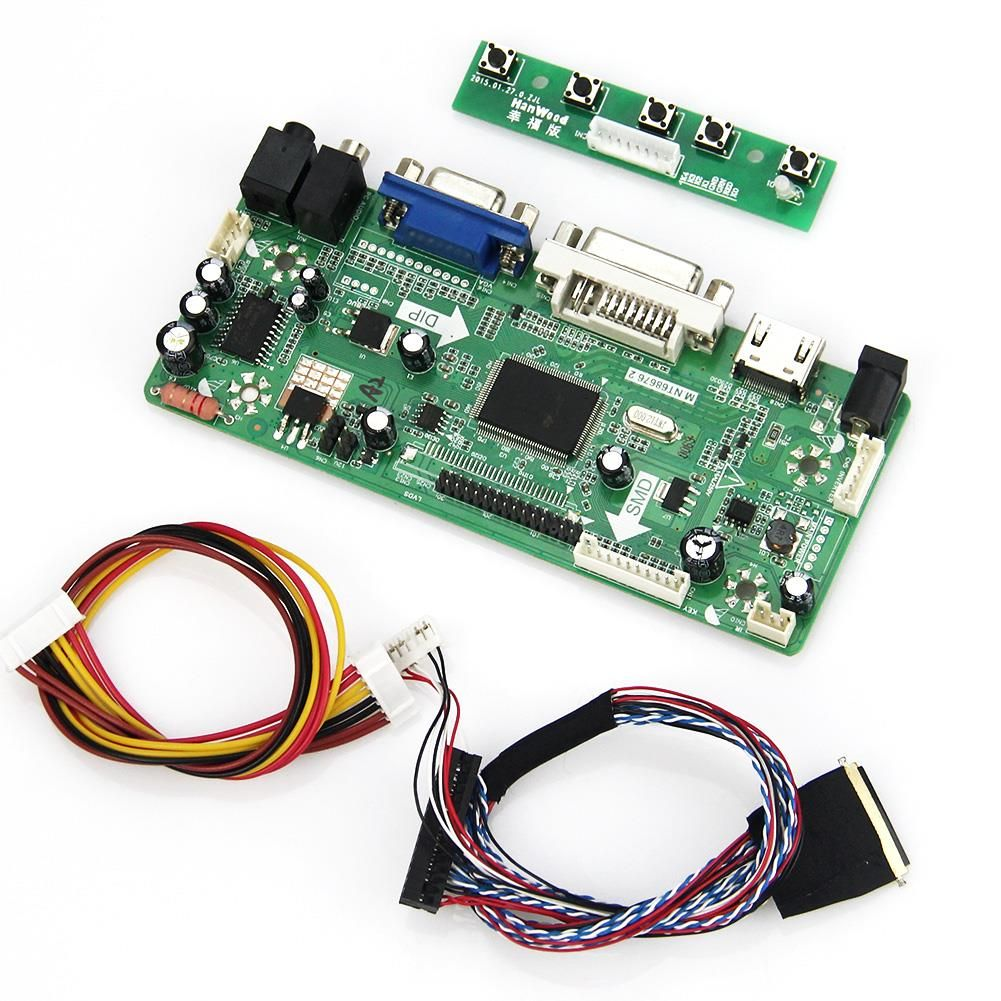 M. NT68676 LCD/LED Controller Driver Board Für B156XW02 LTN156AT02 (HDMI + VGA + DVI + Audio) 1366*768