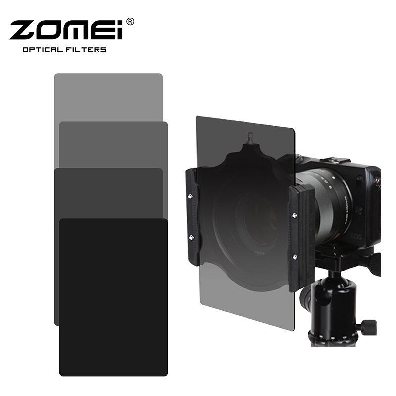 Zomei Carré 100mm * 150mm Densité Neutre Filtre Couleur Gris ND248 + ND16 Ensemble pour Cokin Z pro.