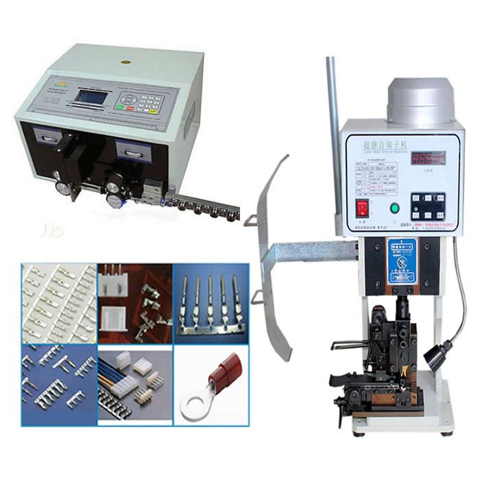 automatic terminal crimping machine LY 1.5T with horizontal mold + SWT508C Wire Stripping Cutting Machine