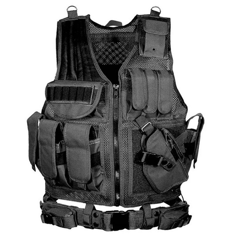 2018 Men Police Military Tactical Vest Wargame Body Armor Sports Wear Hunting Vest Airsoft CS Outdoor Products Equipment Hiking