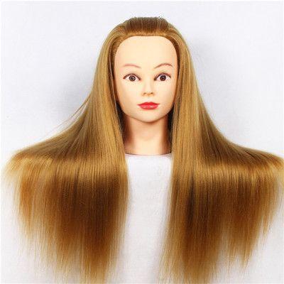 CAMMITEVER 20 pouces coiffure Mannequin tête cheveux blonds cheveux longs coiffure coiffure formation poupée Mannequins féminins