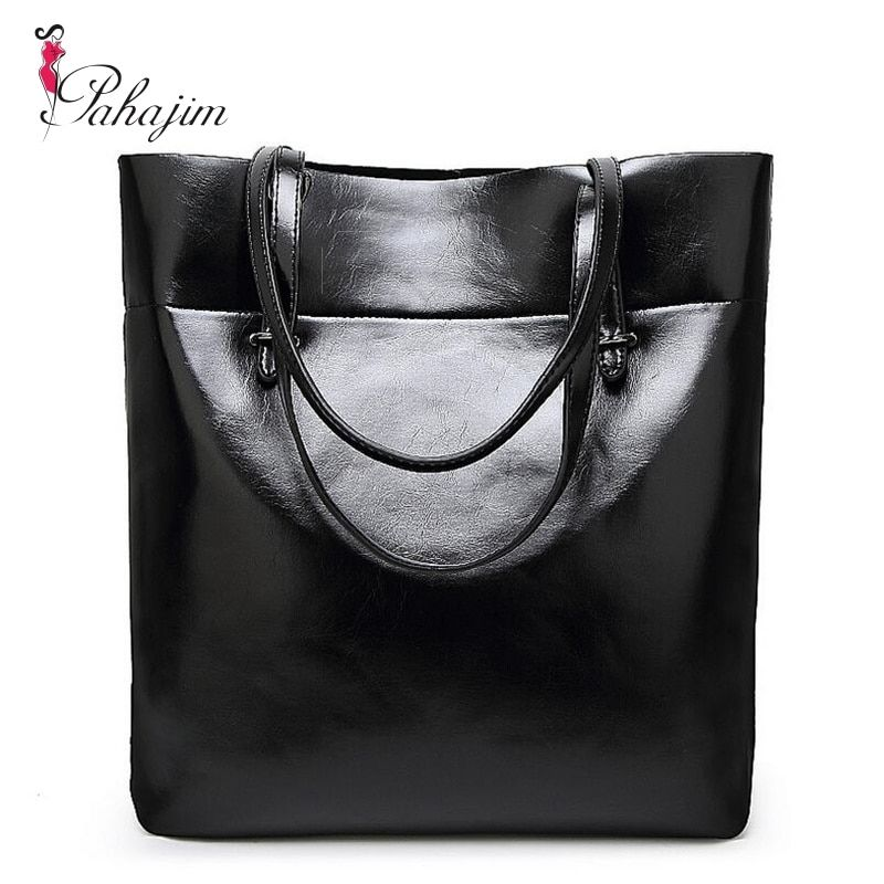 2018 new leather leisure women bag contracted leather tote bags woman single <font><b>handbag</b></font>