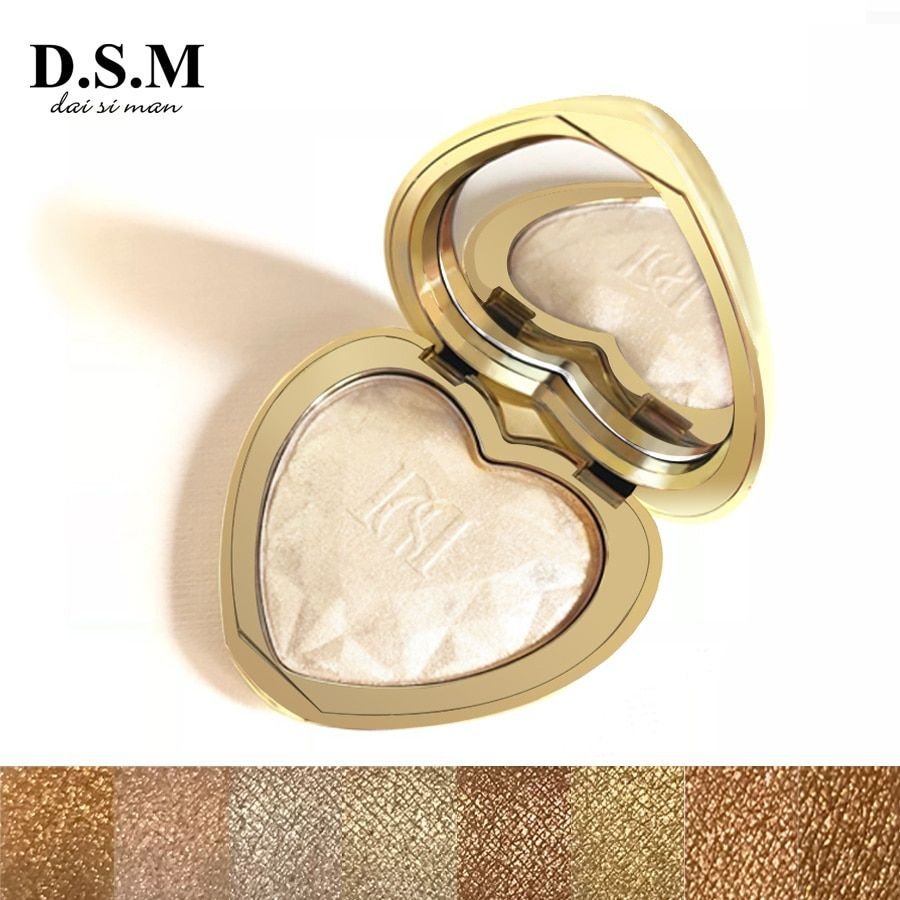 D.S.M Professional Highlighter Makeup Face Powder Highlighting Concealer Cosmetics Eyes Glow Kit Palette Bronzer and Highlighter