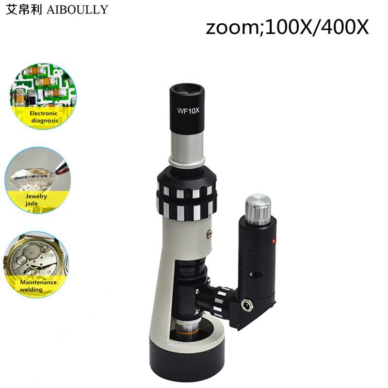 AIBOULLY BJ-A400 Microscope métallographique Portable à main sur Site Microscope Zoom 100X-400X fois Instruments de Diagnostic