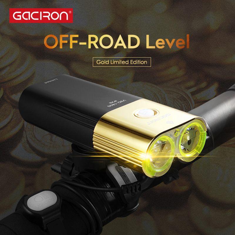 GACIRON V9D-1800 Professionelle 1800 lumen Fahrrad licht Power Bank Wasserdichte USB Aufladbare 6700 mAh Bike licht Fl