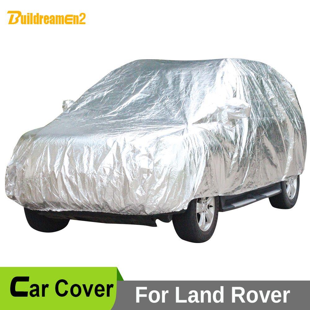 Buildreamen2 Чехлы для автомобиля Anti UV Защита от солнца снега град дождь пыли Водонепроницаемый Крышка для автомобилей Land Rover Discovery Range Rover