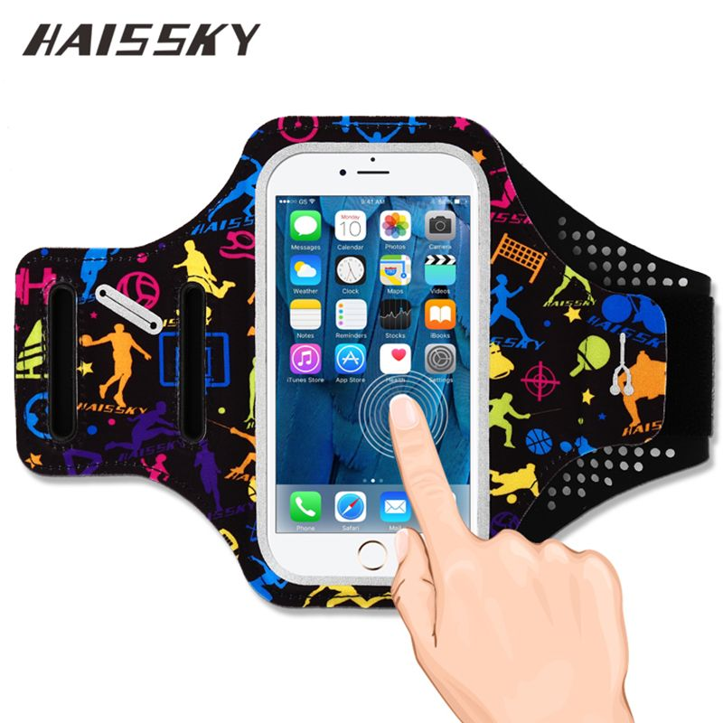 HAISSKY Sport Running Armband For iPhone 6 6S 7 Plus 8 Samsung Galaxy S8 Plus Huawei P10 Plus Xiaomi mi6 Touch ScreenCase Cover