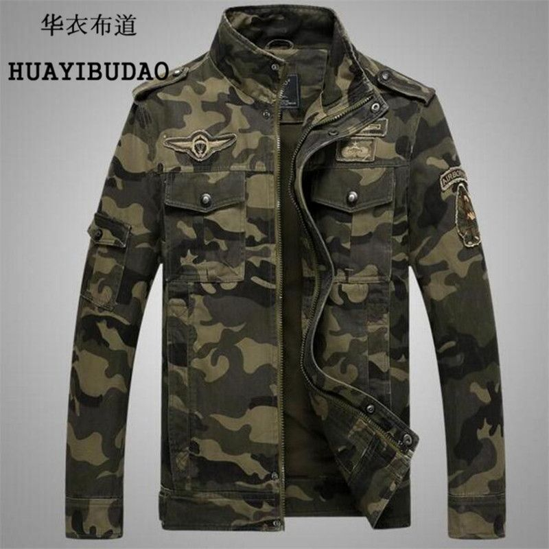 Men's Jacket Autumn And Winter Men's camouflage jacket flight military pilot ma1 bomber air force one men's Clothing M-4XL