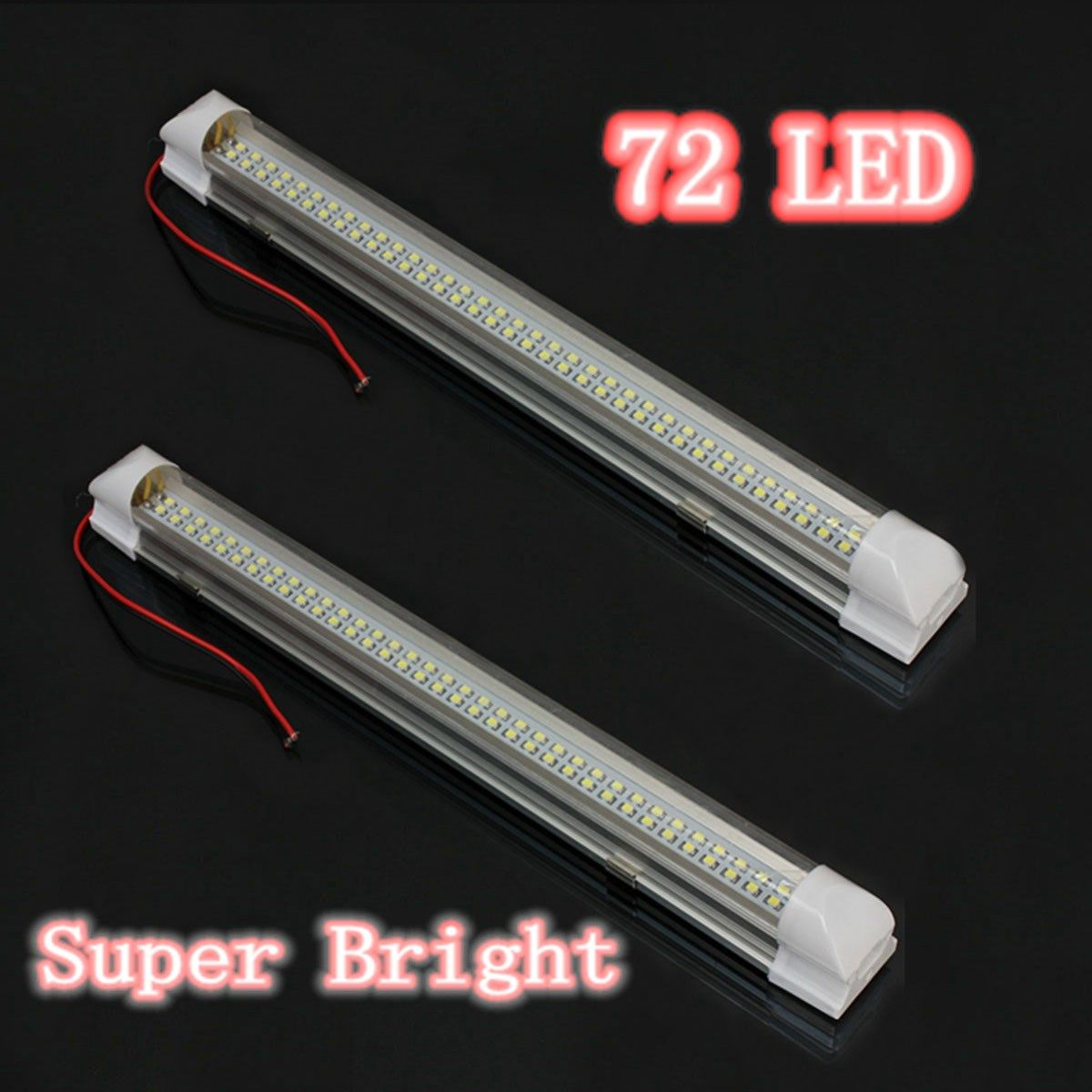 2 предмета Универсальный Авто Caravan подкладке 72 светодиодные полосы белого света лампы на выключатель