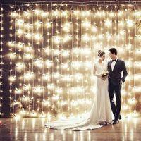 La UE nos macho 3 M * 3 M 300 LED Cadena de cortina guirnalda de luz Festival de Navidad luces de fiesta de boda año Nuevo luces decorativas