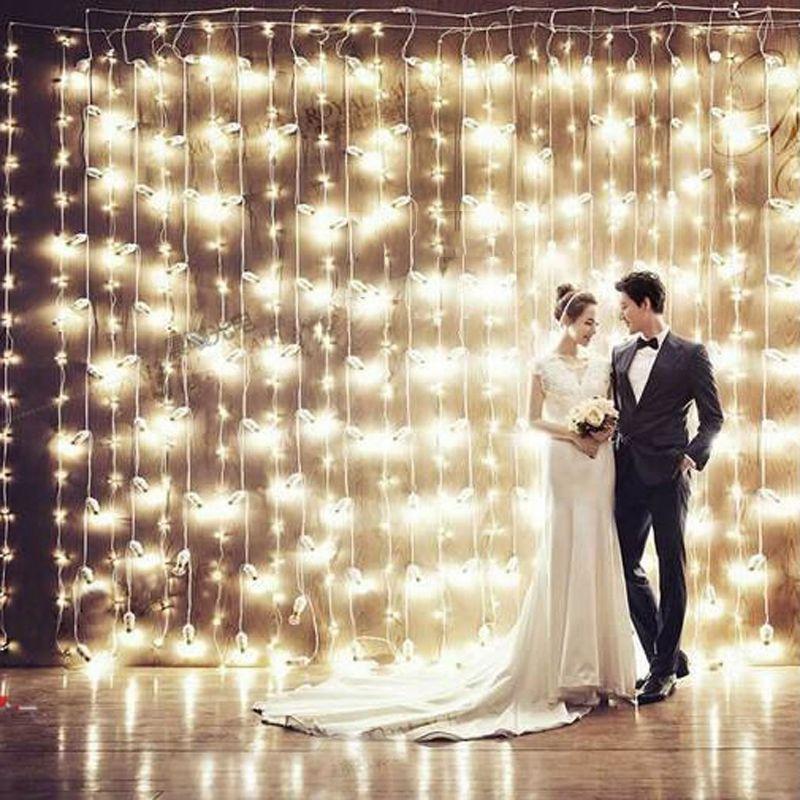US Plug UE 3 m * 3 m 300 Guirlande LED Fée Rideau Guirlande Lumineuse Lumières De Fête De Noël De Mariage Partie nouvelle Année Lumières Décoratives