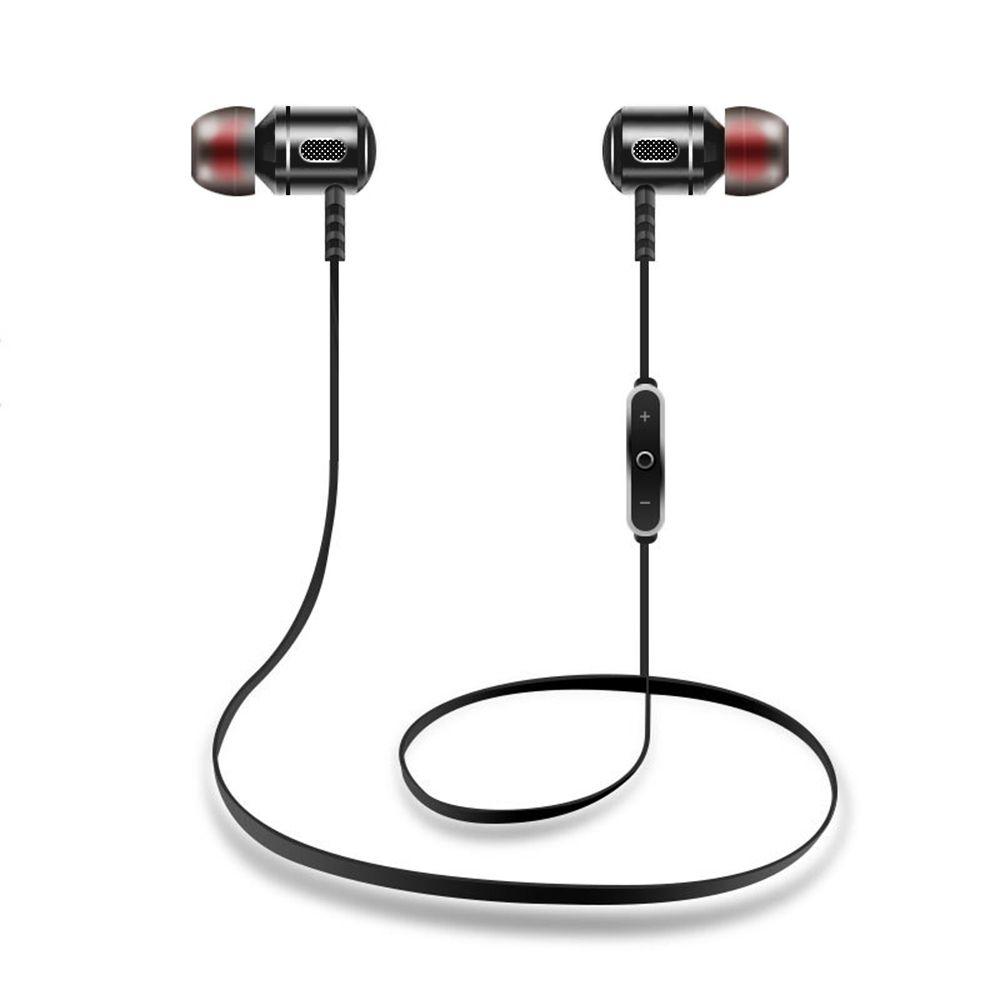 Sport Earphones Wireless Bluetooth In-Ear 4.1 Noise Cancelling Headset Hifi Stereo Mp3 Music Player Metal Earplugs