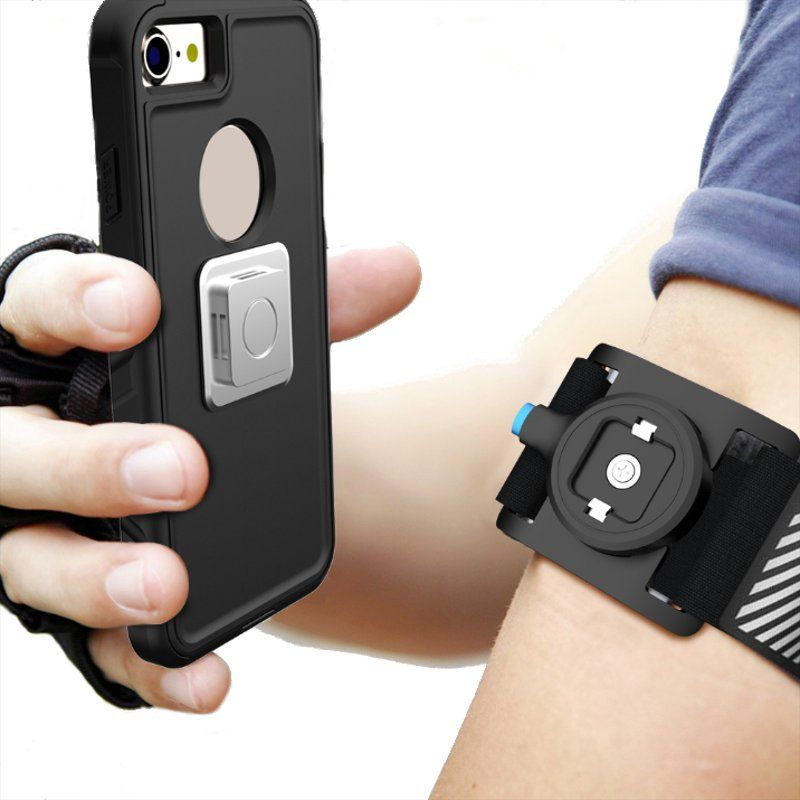 Universal Magnetic Phone Armband Running Arm Bag Clip Sport Cycling Pouch Case Light Weight for iPhone 6 6s for Samsung