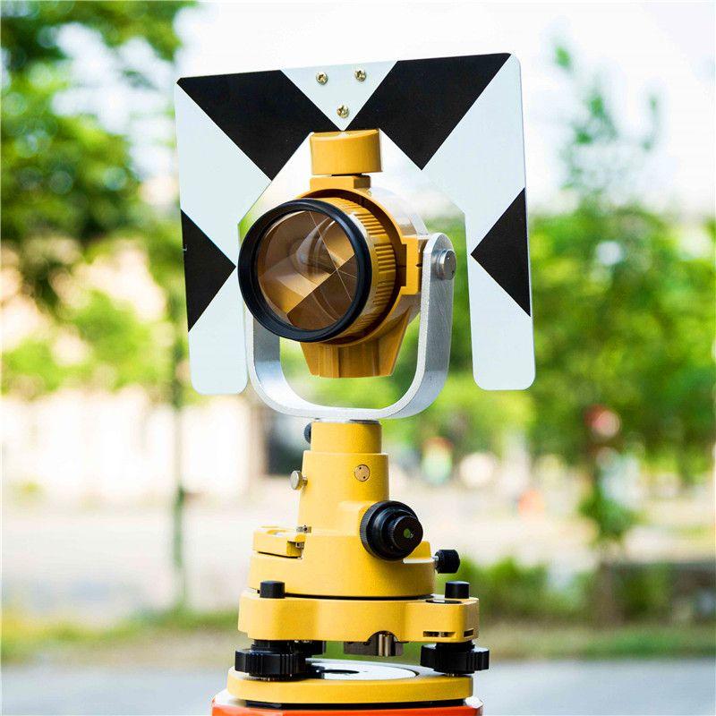 Einzelne Prisma Set für Totalstation Gelb Prisma und Dreifuss und Adapter