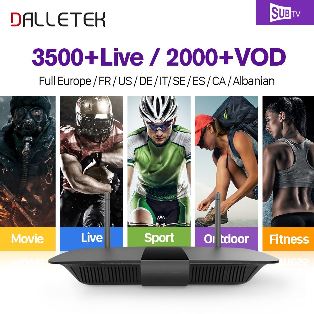Dalletektv Full HD IPTV French Box Android 6.0 with France Arab Subtv Subscription IPTV French Arabic Live Sports VOD Movies