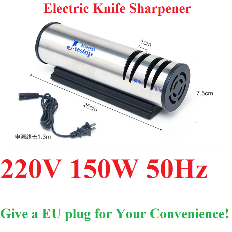 1Pcs High Power 150W/50Hz Electric Knife Sharpener Automatic Multifunction Fast Household Steel Tool Kitchen Cooking 220V
