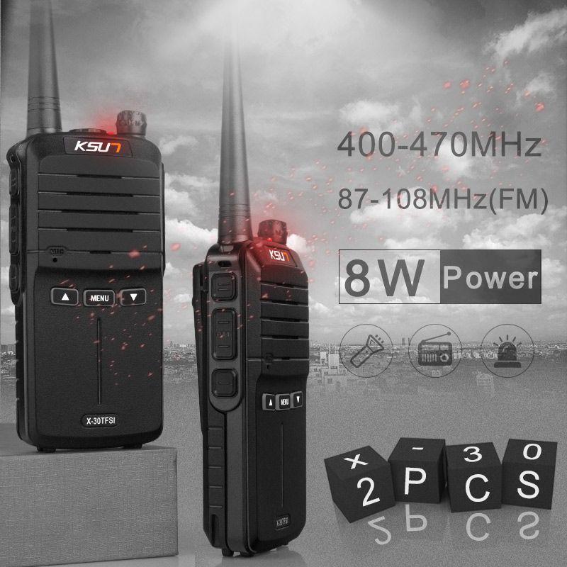(2 pcs) KSUN X-30 de poche talkie walkie radio portable 8 W haute puissance UHF De Poche Deux Way Ham Radio Communicateur HF Émetteur-Récepteur