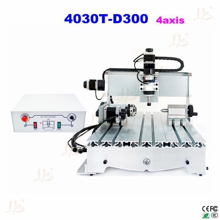 4 achsen CNC 3040 T-D 300 Watt spindelmotor fräsmaschine holz drehmaschine werkzeug engraver router