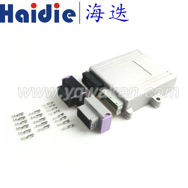 Freies verschiffen 1 satz 24pin/48pin ECU shell stecker auto on-board-controller panel leiterplattensteckverbinder mit Aluminium box