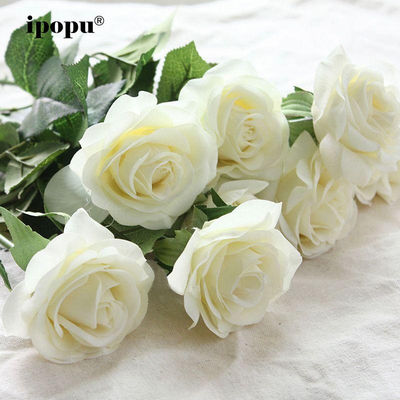 8 pièces/11 pièces réel toucher soie fleurs artificielles mariage nuptiale Bouquet faux fleurs Floral fête de mariage fleurs décoratives