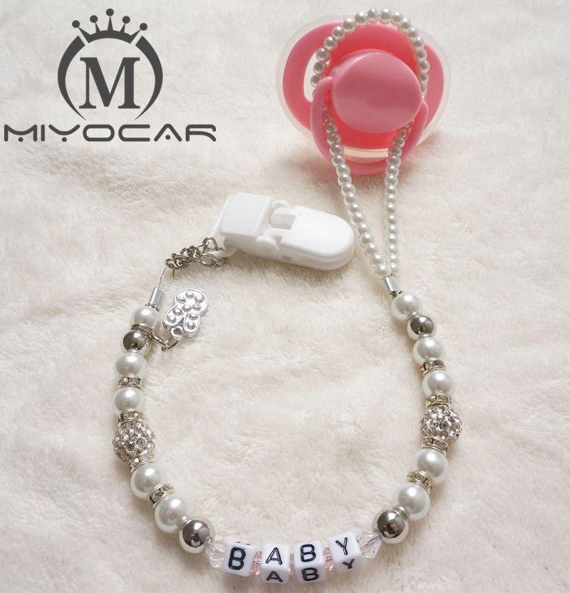 Miyocar индивидуальный-любое имя настроены шику пустышки/соска Сеть Держатель для пустышки клип/Прорезыватели зажимом для ребенка